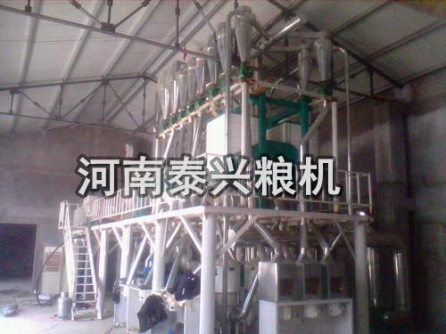 30吨级玉米脱皮制粉制糁机组