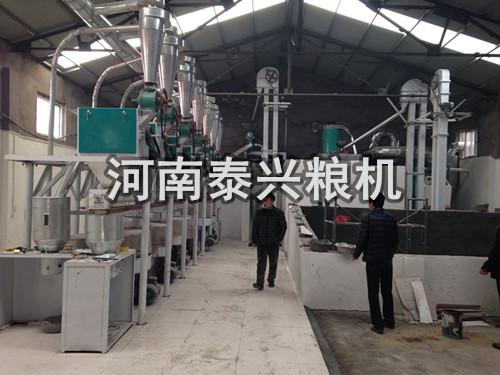 郑州地区10吨级石磨面粉机安装案例
