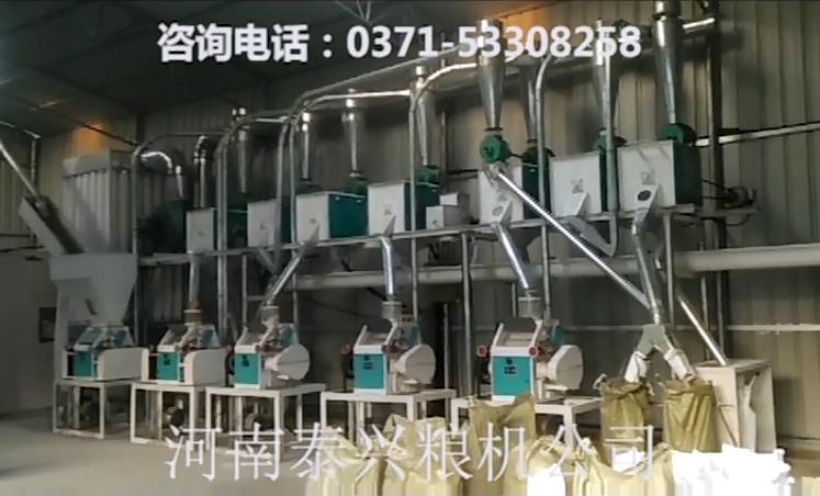 20吨级面粉机组视频