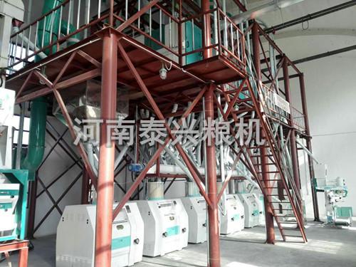 新疆库尔勒60吨面粉机组安装案例