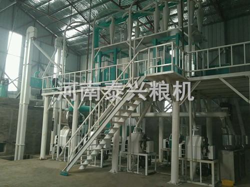 驻马店30吨面粉机安装案例