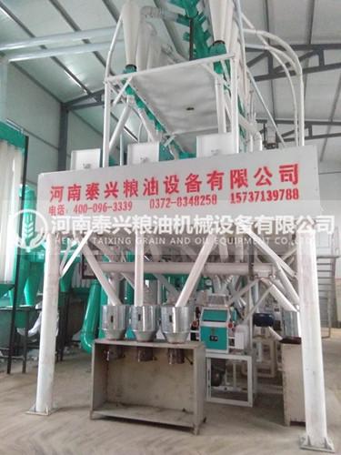 陕西宝鸡30吨玉米加工设备安装案例