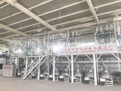 河南原阳20组石磨面粉机安装案例